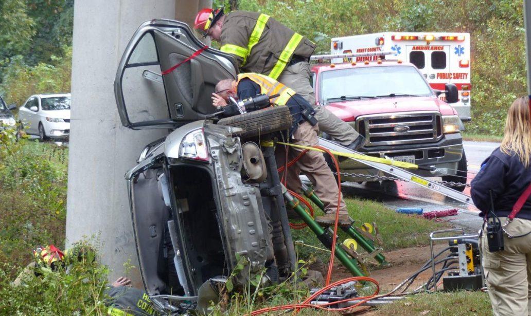 Wreck on Carver Road in Fieldale