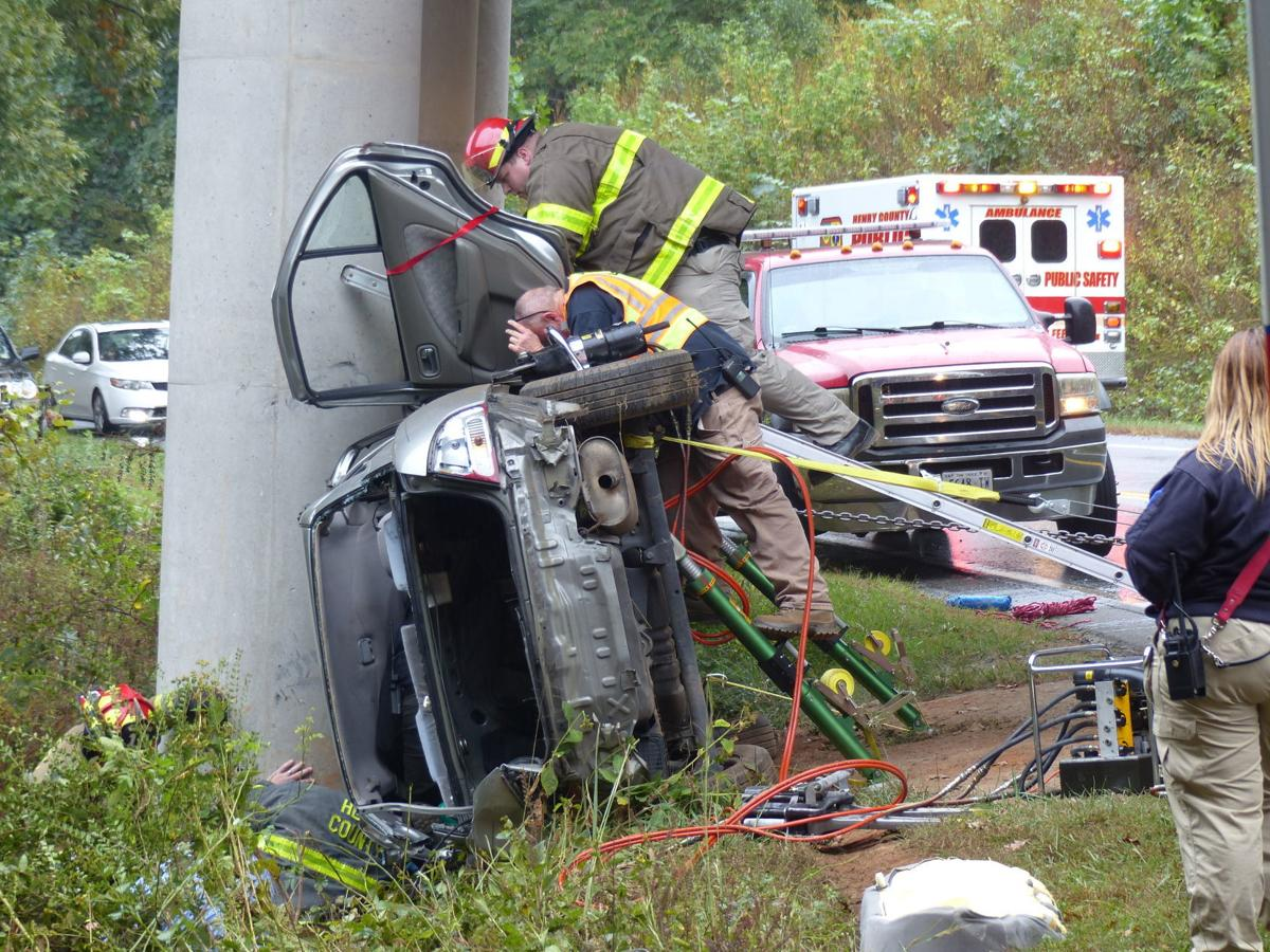 Jaws of life used to remove woman from single-vehicle accident on Carver Road in Henry County