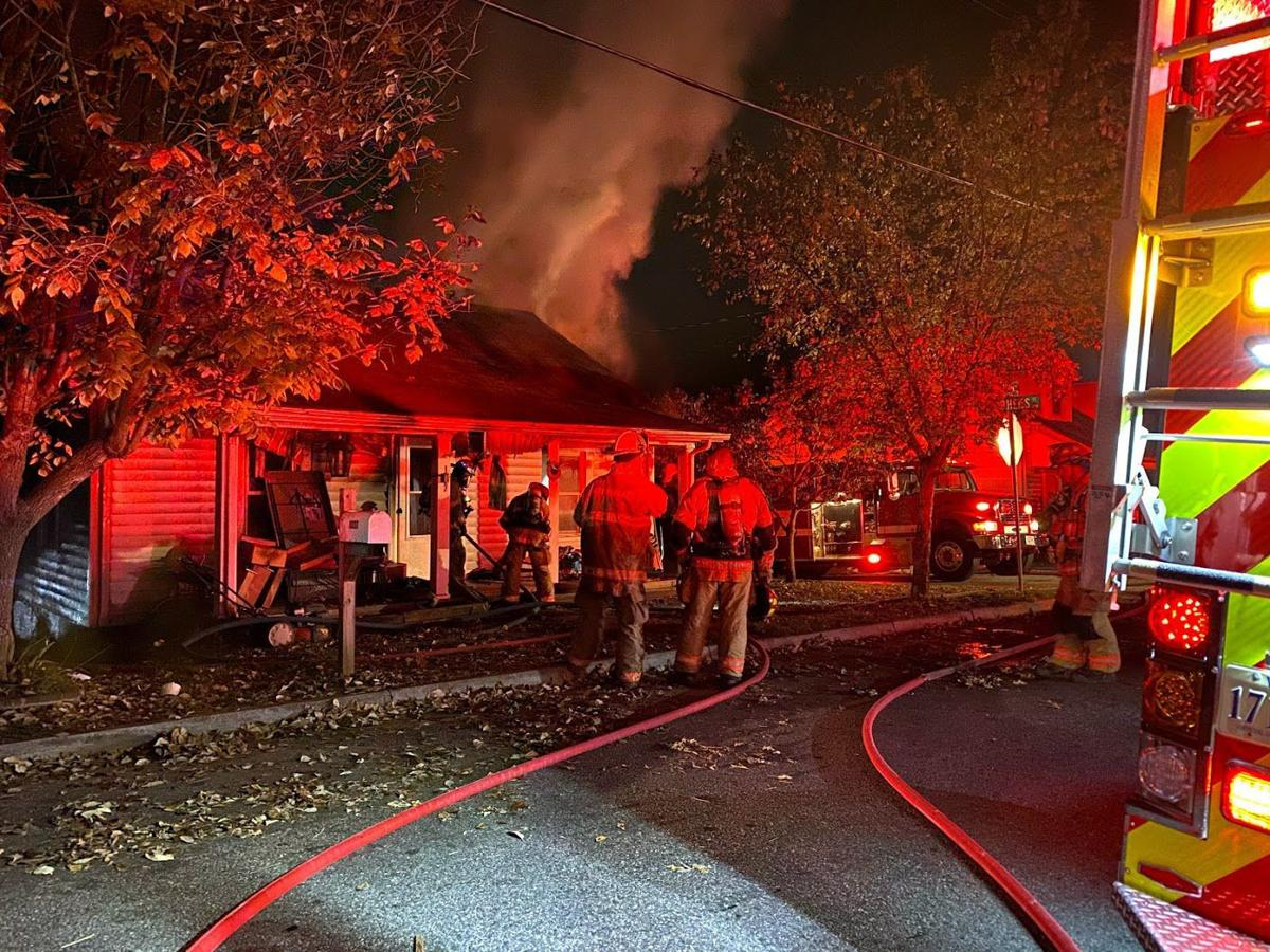 Fire destroys house on Askin Street in Martinsville